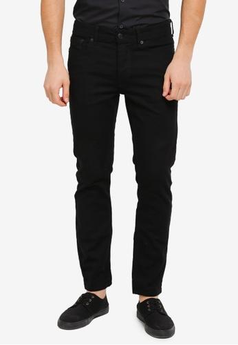 Burton Menswear London 黑色 Black Tyler Stretch Skinny Jeans BU964AA0T1GRMY_1