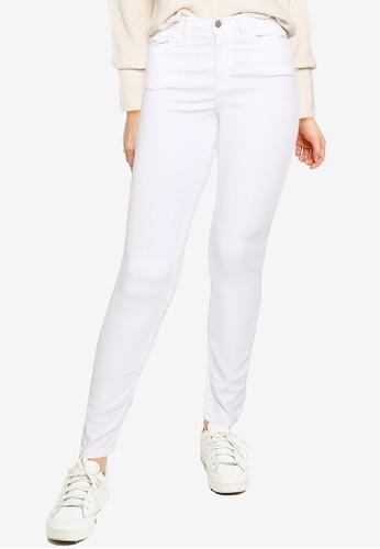 JACQUELINE DE YONG white Lara Life High Skinny Pants 23156AAD4F6C2FGS_1