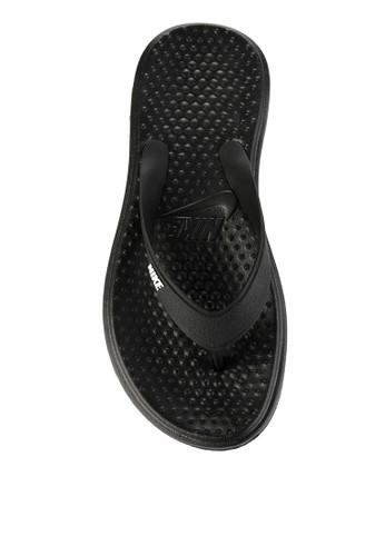 Nike black Men's Nike Solay Thong Sandals NI126SH0WCLZID_1