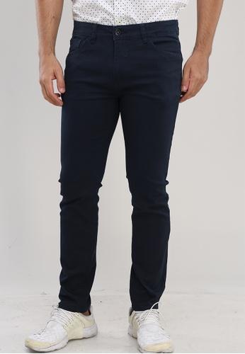 Bossini Men navy Slim Tapered Casual Pants DF201AAF26CB8AGS_1