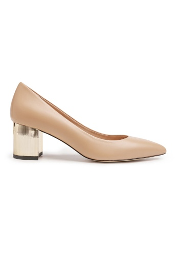Byford beige Cameo Pointed Toe Heels CC435SH2D4175FGS_1