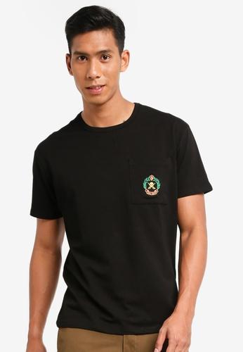 SPARROW GREEN black Crest oversized Tee 19F70AAF5ABC0BGS_1