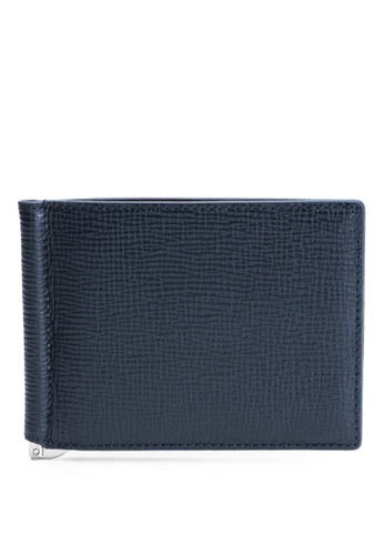 Buy Faire Leather Co. Specter CG Bifold Wallet with Money Clip (Navy ... c8f774d9d