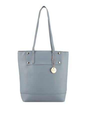 Perllini&Mel blue Faux Leather Double Handle CC99DACFD5FB97GS_1