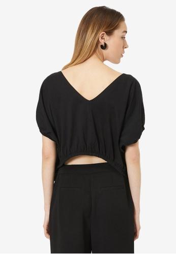 KOTON black Short Sleeve Top 847AEAA3B0E006GS_1