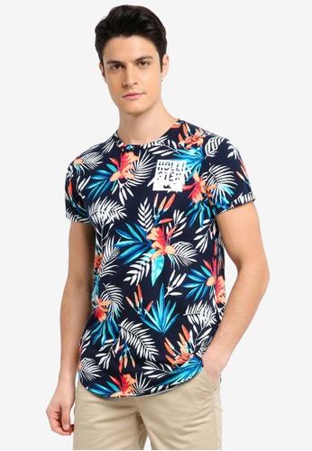 Hollister navy Floral Printed T-Shirt 3D1B7AA78C72F4GS_1