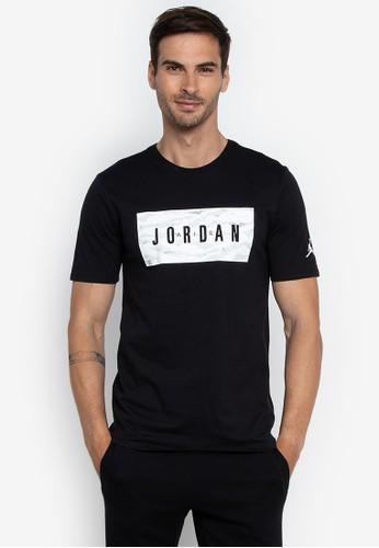 Nike black and multi Jordan Sportswear Tech Wnt Gfx 1 Top 7532FAAE35C860GS_1