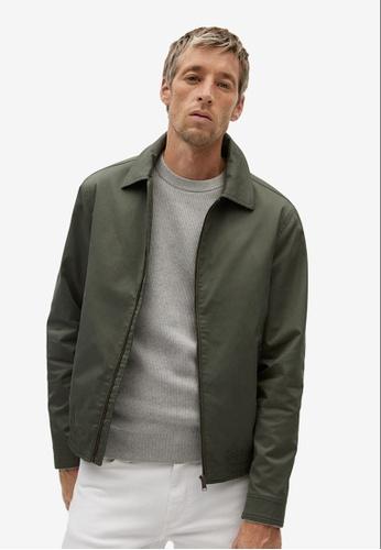 MANGO Man green Zipper Cotton Jacket 36A82AACA34F92GS_1