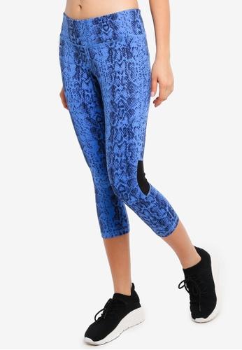 UniqTee blue Printed Yoga Pants 69897AA6561DFEGS_1