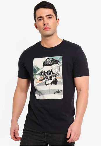Jack & Jones 黑色 印花T恤 48CDDAA1B3E1C8GS_1