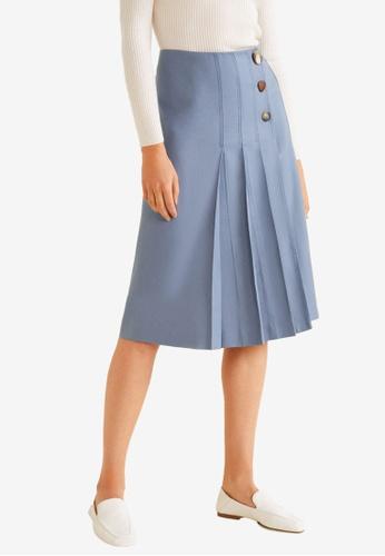Mango grey Linen-Blend Wrap Skirt 12EEAAA7A0498DGS_1