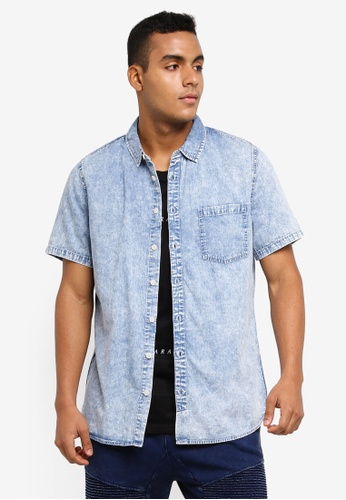 Cotton On blue 91 Short Sleeve Shirt 78E81AA13937A4GS_1