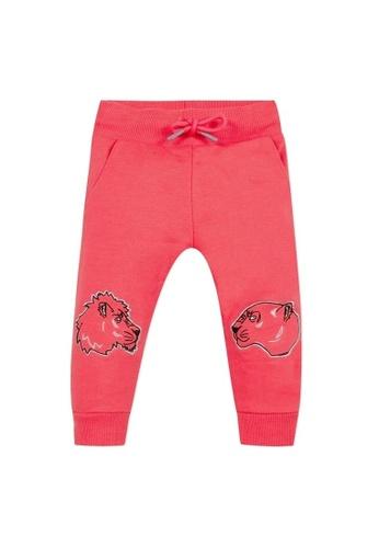 KENZO KIDS pink KENZO BABY GIRLS LONG PANTS 8C86DKA7A6B1D1GS_1