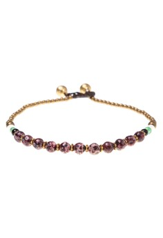 Stone & Brass Charm Toggle Anklet