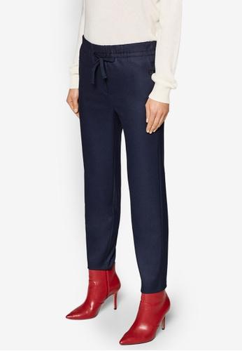 ESPRIT 海軍藍色 混色西裝褲 9BC31AA20128A0GS_1