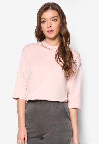 韓式風格鏤空圓領七分袖上衣, 服飾esprit 見工, 上衣
