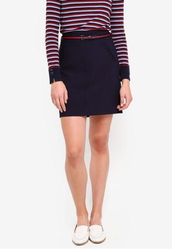 ESPRIT navy Woven Mini Skirt C88D0AA8EE6C18GS_1
