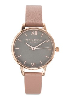 Olivia Burton Midi Dial Grey Dial Dusty Pink Rose Gold Watch image