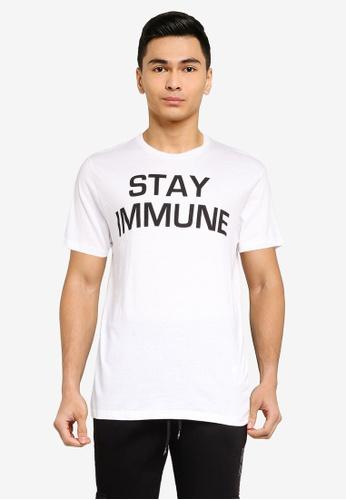 Brave Soul white Crew Neck T-Shirt 9E779AACC22112GS_1