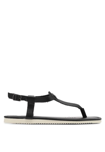 Rubi black Everday Basic Toe Post Sandals RU506SH0T09GMY_1
