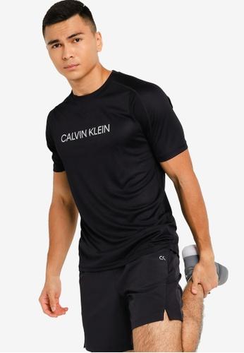 CALVIN KLEIN black Material Mix Logo Tee - CK Performance BF8BBAA7AA3C3EGS_1