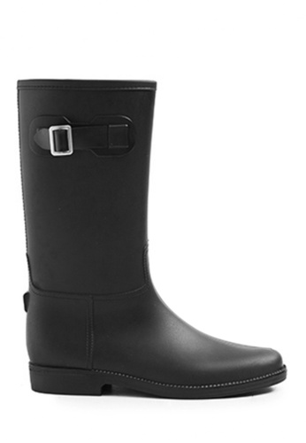 Twenty Eight Shoes black Long Rain Boots MM21A 7CBA4SH578F603GS_1