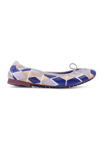 Flatss & Heelss by Rad Russel blue Geometric Flats - Blue AE70FSH9B35FDEGS_1