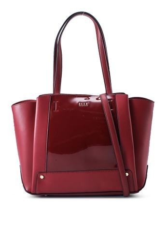 ELLE red Gloria Tote Bag 47980ACDF76B49GS_1