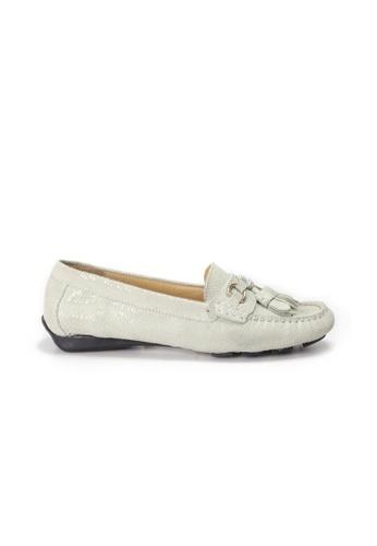 Shu Talk 白色 AMAZTEP 輕便簡約流蘇樂福輕便鞋 DE258SH933AEC2GS_1