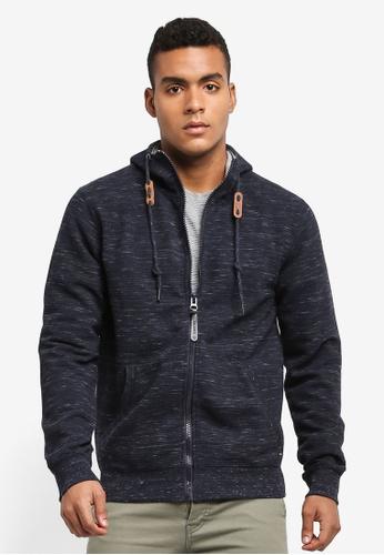 Indicode Jeans navy HUGO Melange Zipped Hoodie F991EAAD7992AFGS_1