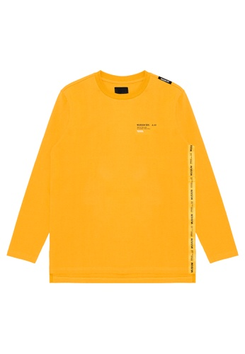 MUSIUM DIV yellow Influencer logo tape tee 868D8AA983BF3AGS_1
