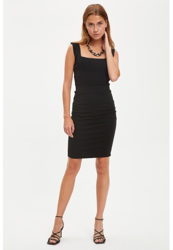 DeFacto black Woman Knitted Dress 0E71DAABCCA507GS_1