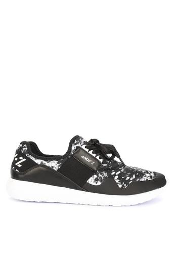 Andy Z black Men's Lace-up Low-cut Sneakers 1A464SH82272ECGS_1