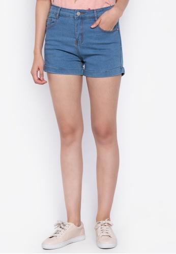 BENCH blue Denim Shorts 58C37AA794E40BGS_1
