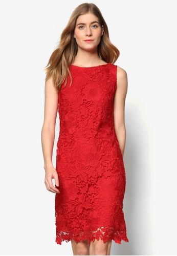 鉤針蕾絲無袖連身裙, 服飾esprit china, 洋裝