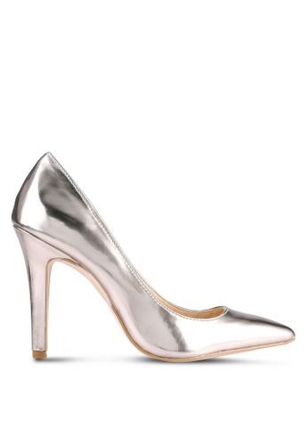 Something Borrowed gold Metallic Heel Pumps 1EFE8ZZC691415GS_1
