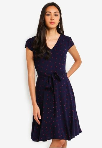 161c3f96d999a Dorothy Perkins navy Billie & Blossom Navy Ladybird Print Skater Dress  9DBE4AA0C7B373GS_1