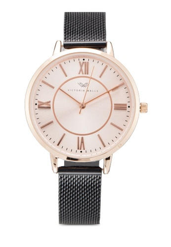 Victoria Walls Watches black Designer Watch-Elegant Milanese Mesh Strap 80C90ACF6B82F5GS_1