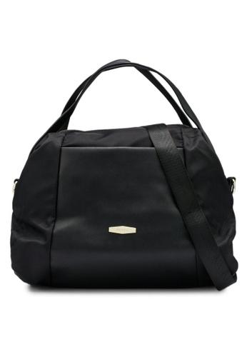 Mel&Co black Nylon Satchel Top Handle 32F17AC8CF1B4AGS_1