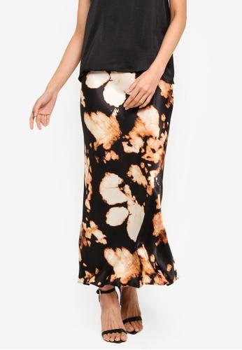 TOPSHOP 多色 暈染綢緞裙 5075AAAC1DBC9DGS_1