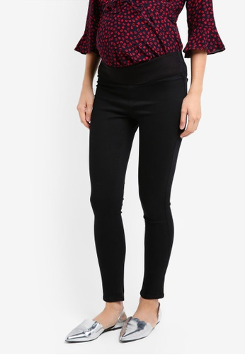 TOPSHOP black Maternity Black Joni Jeans TO412AA0SRSJMY_1