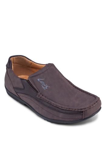 異材質拼接樂福鞋,zalora 台灣 鞋, 鞋
