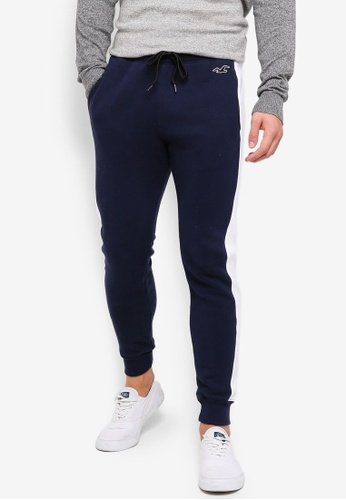 Hollister 海軍藍色 LOGO刺繡緊身慢跑褲 4511AAAA7EDF3AGS_1