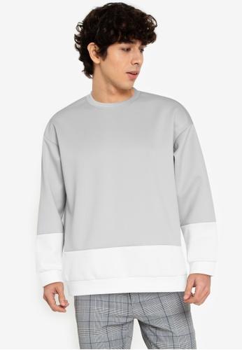 ZALORA BASICS multi Minimal Colour Block Sweatshirt F9EB9AA60E8B6AGS_1