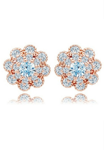 Vivere Rosse gold Aster Stud Earrings VI014AC49KVEMY_1