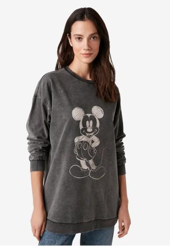 LC Waikiki grey Disney Printed Sweatshirt 86230AAA1C528BGS_1