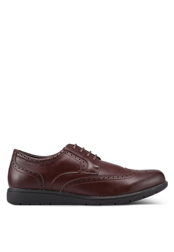 Bata brown Solid Brogue Shoes 17A6ASHDD149F0GS_1