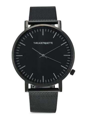 Thread Etiquette black Classic-Black Mesh Timepiece 54D9EAC12F340BGS_1
