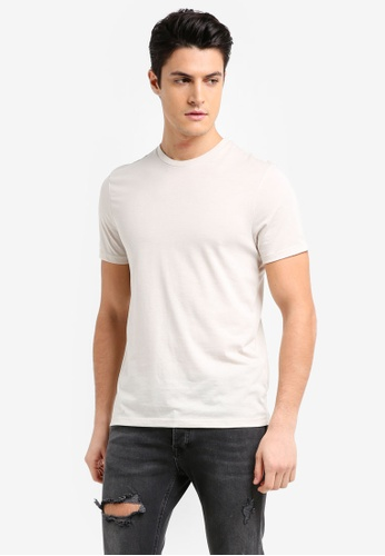 Topman white Ecru Moon T-Shirt 5DC21AACDF6496GS_1