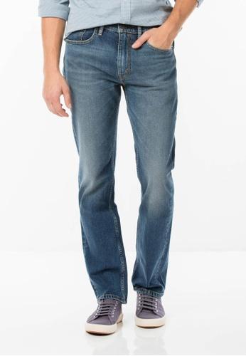 Levi's blue Levi's 505 Regular Fit Stretch Jeans LE815AA03PTSMY_1